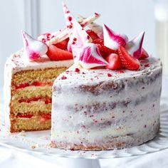 Strawberry and Prosecco Celebration Cake
