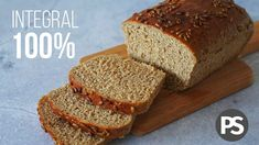 Pan Molde 100% INTEGRAL | sin huevo, sin lácteos y fácil | (VEG) AUXY ⋆ COCINATELO Healthy Bread Recipes, No Salt Recipes, Cooking Recipes, Argentine Recipes, Types Of Bread, Pan Bread, Sin Gluten, Banana Bread, Cravings