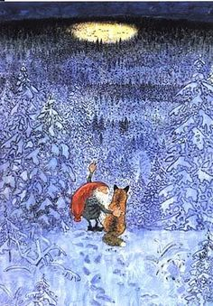 Tomte and Fox Winternight Wiberg