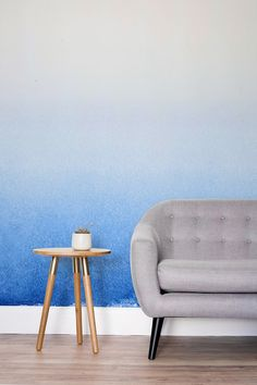 This beautiful ombre wallpaper mural would brighten up any living space.