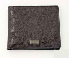 Giorgio Armani Wallet (Men s Pre-owned Brown Pebbled Leather Bifold Wallets) c26ef9077b