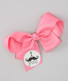 This Pink Mustache Bow Clip is perfect! #zulilyfinds