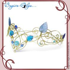 "Tiaras, handmade hoops.  Fair Masters - handmade tiara ""Golden Elf"".  Handmade."
