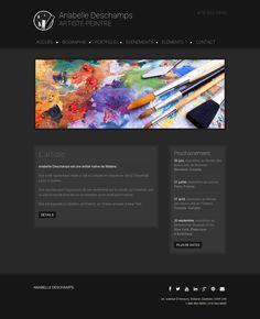 Présentez vos œuvres et votre parcours d'artiste avec ce modèle tout en couleurs.