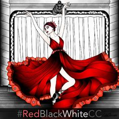 Color Therapy Wednesday Challenge RedBlackWhiteCC Started In Our App Read The Instruction Below