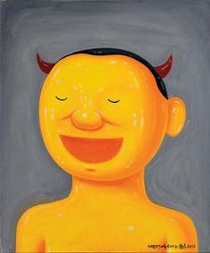 SHEN JINGDONG (NÉ EN 1965) Lao Yue, 2016 Huile sur toile, signée et datée en bas à droite 60 x 50 cm - 23 5/8 x 19 3/4 in. Oil on canvas, signed and dated lower right Né en 1965 à Nanjing en Chine, Shen… - Aguttes - 08/04/2018