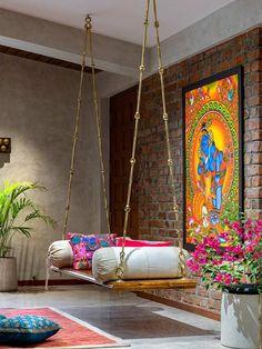 Decor Home Living Room, Home Decor Furniture, Living Room Designs, Bedroom Decor, Indian Room Decor, Indian Bedroom, India Home Decor, Ethnic Home Decor, Indian Home Design