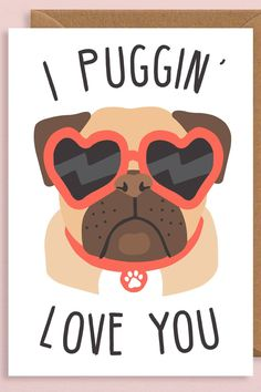 Clever Valentine's Day Cards That Will Definitely Make Your Partner Laugh - Clever Valentine's Day Cards That Will Definitely Make Your Partner Laugh, - Valentines Day Drawing, Valentines Day Memes, Valentines Day Pictures, Valentines Art, Vintage Valentines, Valentine Day Cards, Happy Valentines Day, Valentine Dog, Pug Illustration