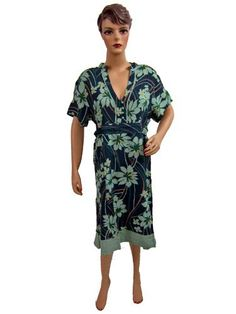 Womens Blue Green Printed V Neckline Bohemian Summer Sundress Short Sleeves Dress Mogul Interior, http://www.amazon.com/dp/B007VLIIG4/ref=cm_sw_r_pi_dp_xw9Jpb1F4DD2A$29.95