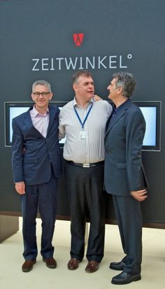 Angus Davies is pictured here with Peter Nikolaus and Professor Ivica Maksimovic, founders of Zeitwinkel.    Read Angus Davies's article on the Zeitwinkel 273° on ESCAPEMENT.    Looking at time from another angle.    http://www.escapement.uk.com/articles/zeitwinkel-273%C2%B0.html