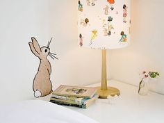 Adorable Boo Rabbit Wall Sticker by Belle & Boo and available for purchase at Not on the High Street in the UK for 14 British pounds