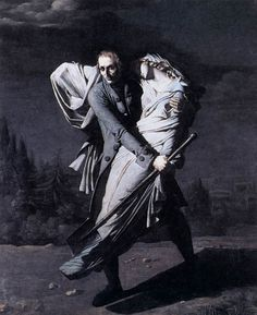 Young Holding his Dead Daughter in his Arms, 1804, by Pierre-Auguste Vafflard