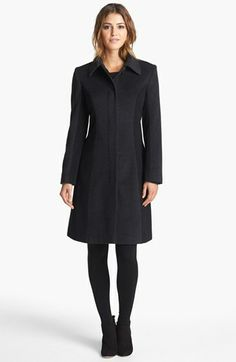 Helene Berman Colorblock Wool Blend Coat - the colorblocking is very subtle & VERY flattering