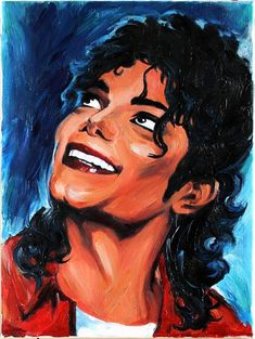 Michael Jackson Original Oil Paintings on Canvas Portrait Art by Anastassia. $135.00, via Etsy.