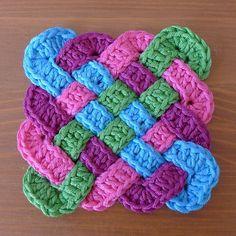 "mostlyharmlessdesigns: ""Celtic Coasters by Rainbow Junkie Free crochet pattern! """