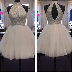 Ivory Open Back Short Homecoming Dresses For Teens,Simple Cheap Graduation Dresses,Halter Cocktail Dresses sold by Belle Dress. Shop more products from Belle Dress on Storenvy, the home of independent small businesses all over the world. Cheap Graduation Dresses, White Homecoming Dresses, Cute Prom Dresses, Dresses For Teens, Sexy Dresses, Beautiful Dresses, Evening Dresses, Short Dresses, Formal Dresses