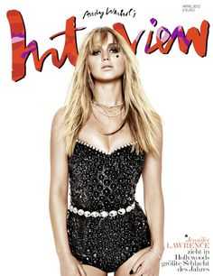 Interview Germany April 2012 - Jennifer Lawrence photographed by Matthias Vriens-McGrath in Dolce & Gabbana