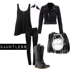"""Dauntless"" by divvyntage on Polyvore **not an all black chick but LOVED the book***"