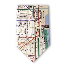 "Chicago ""EL"" Map Tie from Josh Bach. Don't get lost on the way to work!"