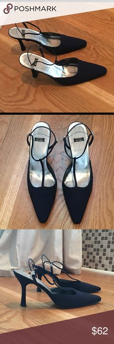 Stunning Stuart Weitzman Navy Heels Gorgeous Navy Shoes! Beautiful for the holidays or a special occasion! In very good condition...most wear is on sole and inside shoe. Stuart Weitzman Shoes Heels