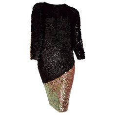 """Chanel """"new"""" Haute Couture Swarovski Sequins On Knit Black Pearl Dress - Unworn Chanel Little Black Dress, Dress Black, Cashmere Dress, Pearl Dress, Designer Evening Dresses, Haute Couture Fashion, Chanel Couture, Silk Gown, Wool Dress"""