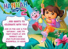 Customized Dora Birthday Invitation