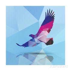 Geometric Polygonal Eagle, Pattern Design, Vector Illustration Art Print at AllPosters.com