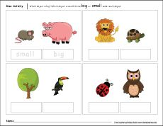 Which is bigger size worksheet for kids