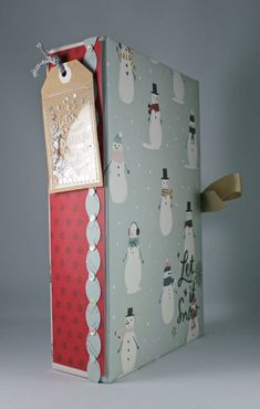 Let It Snow, Mini Albums, Stampin Up, Projects, Ink, Paper, Scissors, Log Projects, Blue Prints