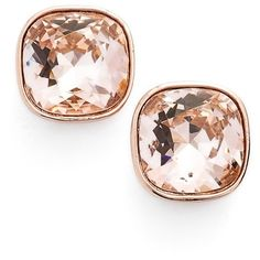 Givenchy Crystal Stud Earrings (€31) ❤ liked on Polyvore featuring jewelry, earrings, rose gold, post earrings, crystal stud earrings, crystal jewelry, stud earring set and imitation jewelry
