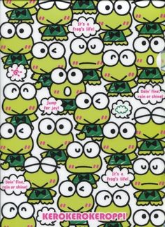 Sanrio Keroppi Speech Bubbles A4 Plastic File Folder #2 #Sanrio