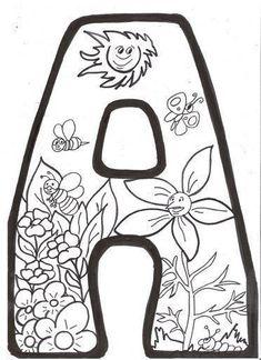 Letras Primavera Para Colorear <b>letras</b> de <b>primavera para colorear</b> e imprimir Coloring Letters, Alphabet Coloring Pages, Alphabet Art, Alphabet And Numbers, Printable Coloring, Coloring Sheets, Easy Coloring Pages, Free Adult Coloring Pages, Free Coloring