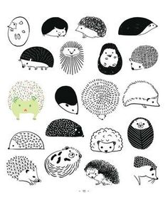 drawing a hedgehog . the next best thing to have a hedgehog? Art And Illustration, Illustrations, Hedgehog Illustration, Doodle Art, Graphic, Art Drawings, Drawing Art, Drawing Ideas, Zentangle Drawings