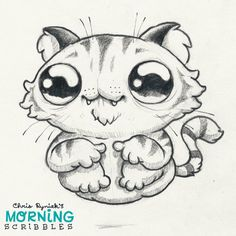 Artist Chris Ryniak - Hover Cat - cute art. Morning Scribbles. Cute art by Chris Ryniak Follow Chris Ryniak on facebook and Instagram. ;) http://chrisryniak.com/ https://www.facebook.com/pages/Chris-Ryniak/68169468627