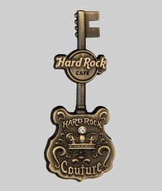 Hard Rock Cafe Pins - 3D Antique Couture Guitar #hardrock