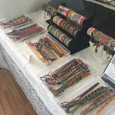 I had my set up this at the Pop up Art Show at the Pop Porium! Pop Up Art, Bracelet Display, Bracelet Crafts, Craft Fairs, Friendship Bracelets, Bohemian Rug, Store, Diy, Jewelry