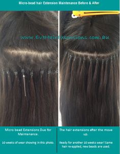 microbead_hair_extensions_maintenance_before_and_after