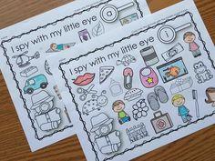 I Spy Literacy & Math Activities