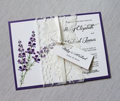Lace Wedding Invitations Lavender Wedding by LoveofCreating