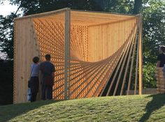 amazin+structura+natual | organic-cube-sculptural-timber-structure-lets-sunrays-pass-through-a ...