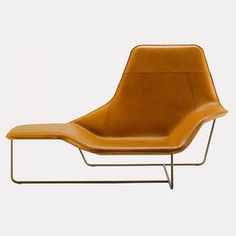 Lama chaise longue, design by Ludovica and Roberto Palomba for Zanotta. Ludovica and Roberto Palomba certainly overlooked nothing in designing this classy chaise longue for Zanotta Brown Furniture, New Furniture, Furniture Design, Furniture Chairs, Discount Furniture, Garden Furniture, Furniture Removal, Space Furniture, Milan Furniture