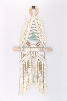 "Macrame wall haning ""SAKUYA no.2"" HIMO ART by May Sterchi"