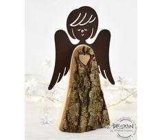 Weihnachtsfiguren - Deko Engel mit Rostflügeln Landlust Weihnachtsdeko - ein Designerstück von Holz-Design-Germany bei DaWanda