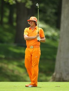 Colorful Rickie Fowler