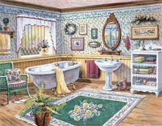 Resultado de imagen de cuadros para baños de punto de cruz