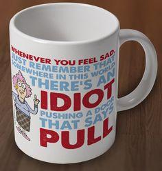 Aunty Acid Idiot Mug from Charlie Bit Me. Buy Aunty Acid Idiot Mug Online now for �7.00 : CharlieBitMe.co.uk