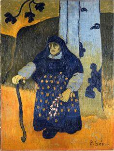 The Athenaeum - Vieille Bretonne sous un arbre (Paul Serusier - ) Pierre Bonnard, Paul Gauguin, Maurice Denis, Edouard Vuillard, Georges Seurat, Saint Germain En Laye, Maurice Utrillo, American Realism, Art Populaire