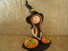 Halloween Witch by countrycupboardclay on Etsy, $11.95
