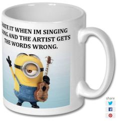 New product 'I Hate It When Im Singing A Song And The Artist Gets The Words Wrong Printed Mug' added to East Yorkshire Gifts! - £6.99