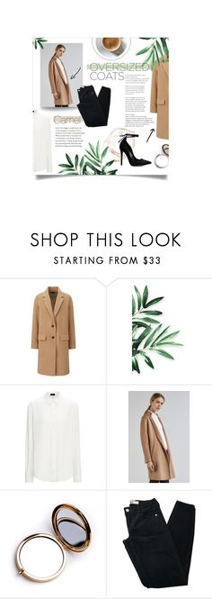 """Oversized coats: Camel"" by annesophiel ❤ liked on Polyvore featuring Uniqlo, Charli, Odeme, Brandy Melville, oversized, coats, camel and oversizedcoats"